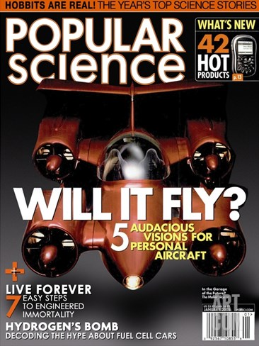 Front cover of Popular Science Magazine: January 1, 2005 Stretched Canvas Print