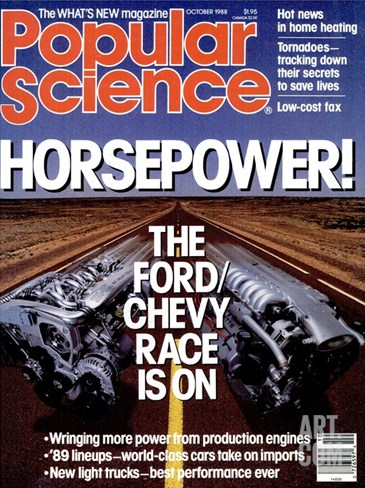 Front cover of Popular Science Magazine: October 1, 1988 Stretched Canvas Print
