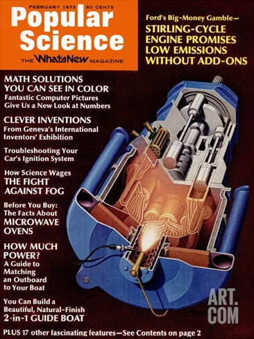 Front cover of Popular Science Magazine: February 1, 1973 Stretched Canvas Print