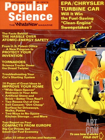 Front cover of Popular Science Magazine: September 1, 1973 Stretched Canvas Print