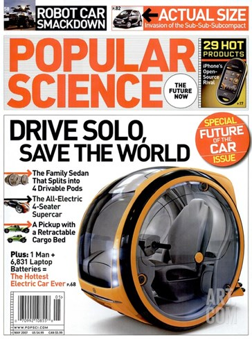 Front cover of Popular Science Magazine: May 1, 2007 Stretched Canvas Print