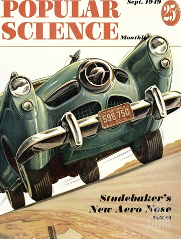 Front cover of Popular Science Magazine: September 1, 1949 Stretched Canvas Print