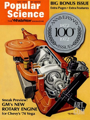 Front Cover of Popular Science Magazine: May 1, 1972 Stretched Canvas Print