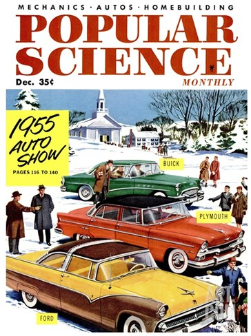 Front Cover of Popular Science Magazine: December 1, 1955 Stretched Canvas Print