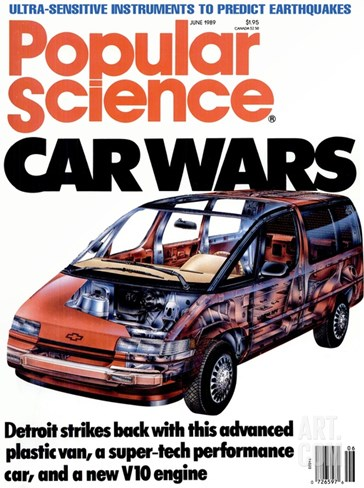 Front cover of Popular Science Magazine: June 1, 1989 Stretched Canvas Print