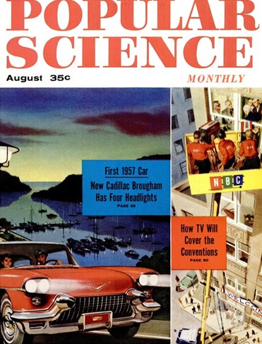 Front Cover of Popular Science Magazine: August 1, 1950 Stretched Canvas Print
