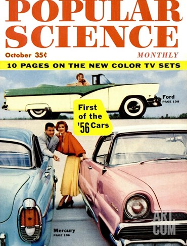 Front cover of Popular Science Magazine: October 1, 1930 Stretched Canvas Print
