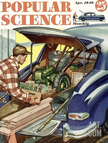 Front cover of Popular Science Magazine: April 1, 1949 Stretched Canvas Print