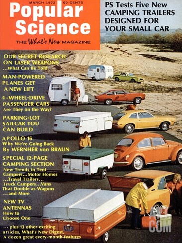 Front Cover of Popular Science Magazine: March 1, 1972 Stretched Canvas Print