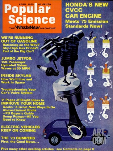 Front cover of Popular Science Magazine: April 1, 1973 Stretched Canvas Print