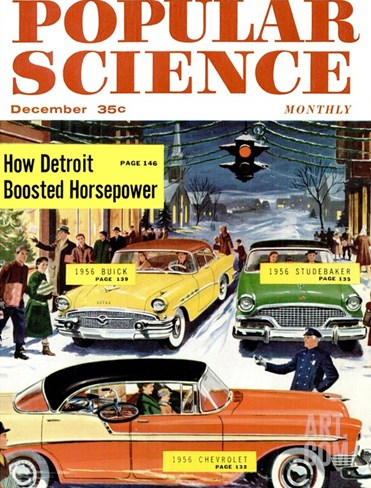 Front Cover of Popular Science Magazine: December 1, 1950 Stretched Canvas Print