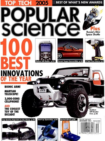 Front cover of Popular Science Magazine: December 1, 2005 Stretched Canvas Print