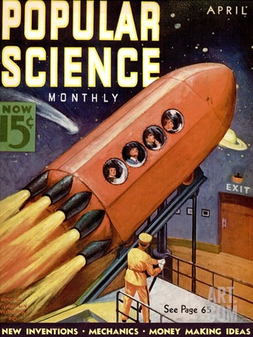 Front Cover of Popular Science Magazine: April 1, 1930 Stretched Canvas Print