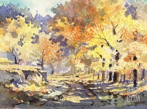 Golden Autumn Stretched Canvas Print