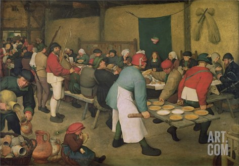 Peasant Wedding Stretched Canvas Print