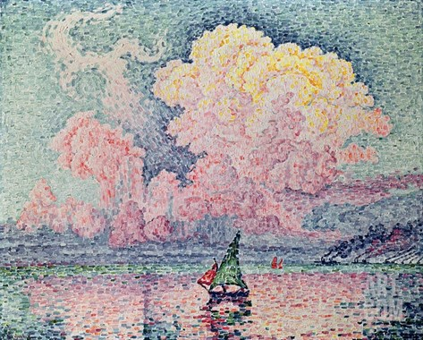 Antibes, the Pink Cloud Stretched Canvas Print