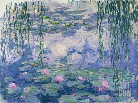 Waterlilies Stretched Canvas Print