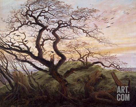The Tree of Crows Stretched Canvas Print