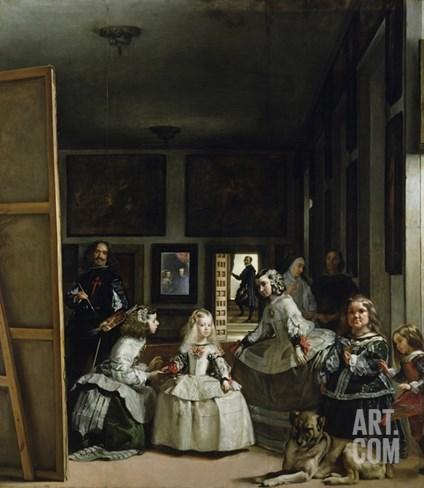 Las Meninas Stretched Canvas Print