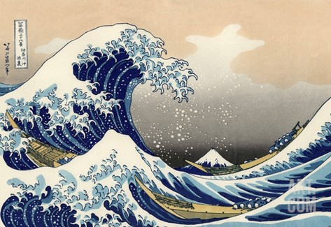 Under the Wave off Kanagawa Stretched Canvas Print