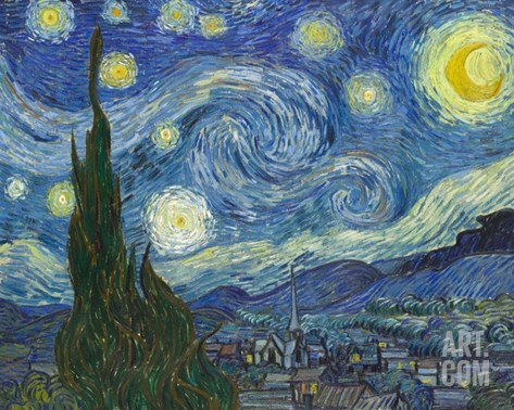 The Starry Night Stretched Canvas Print