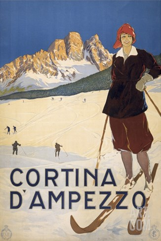 Cortina d'Ampezzo poster Stretched Canvas Print