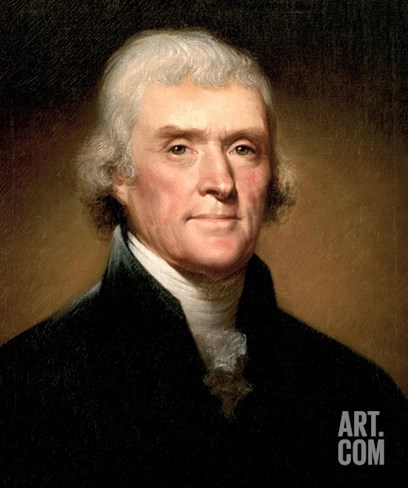 Thomas Jefferson Stretched Canvas Print