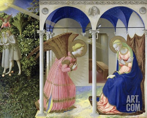 The Annunciation Stretched Canvas Print