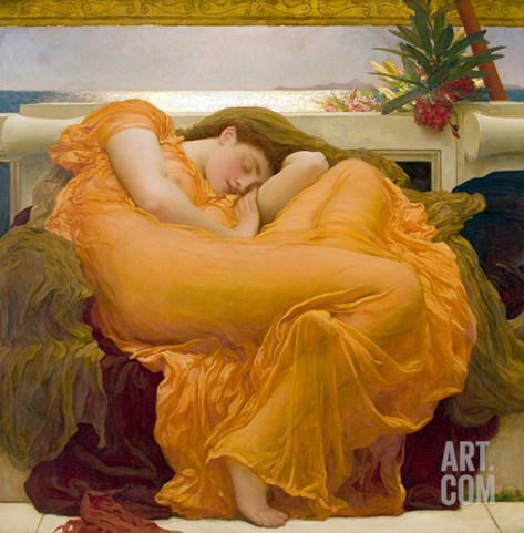 Flaming June Stretched Canvas Print