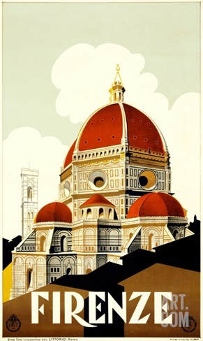 Firenze Poster Stretched Canvas Print