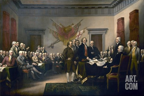 Declaration of Independence Stretched Canvas Print