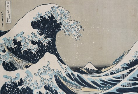 The Great Wave of Kanagawa Stretched Canvas Print