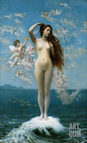 Venus Rising (The Star) Stretched Canvas Print