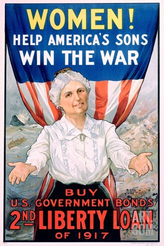 Women! Help America's Sons Win the War Stretched Canvas Print
