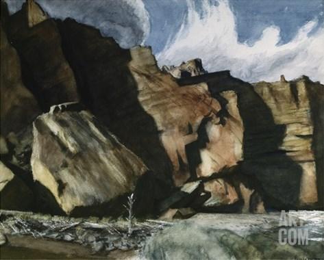 Shoshone Cliffs Stretched Canvas Print