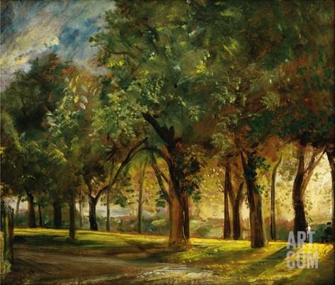 Judge's Walk Hampstead Stretched Canvas Print