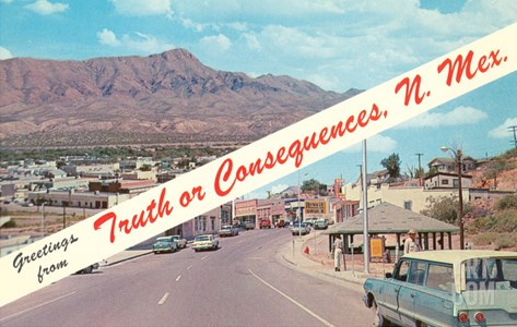 Greetings from Truth or Consequences, New Mexico Stretched Canvas Print