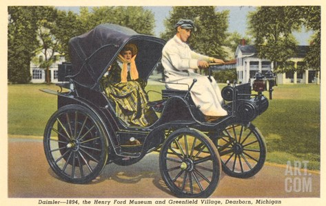 1894 Daimler, Greenfield Village, Dearborn, Michigan Stretched Canvas Print