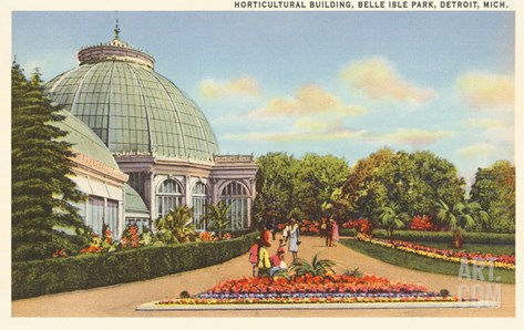 Greenhouse, Belle Isle, Detroit, Michigan Stretched Canvas Print