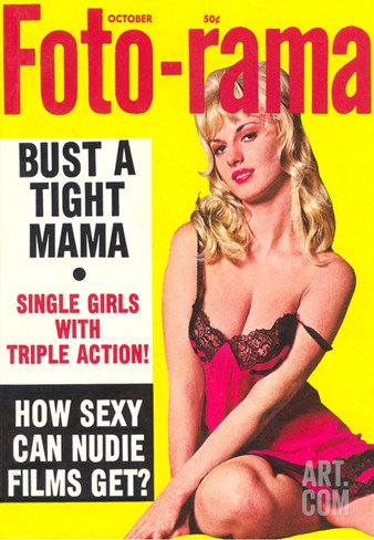 Men's Pulp Magazine Cover Stretched Canvas Print