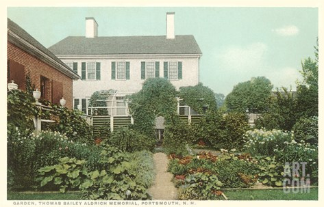 Garden, Aldrich Memorial, Portsmouth, New Hampshire Stretched Canvas Print