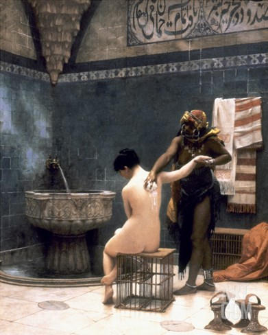 Gerome: The Bath, 1880 Stretched Canvas Print