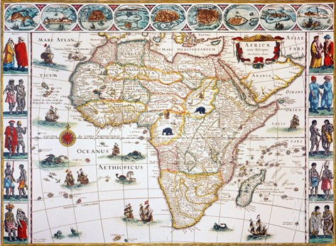 Map Of Africa, 1630 Stretched Canvas Print