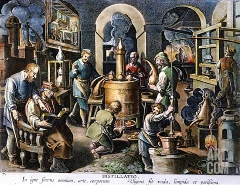 Alchemy: Laboratory Stretched Canvas Print