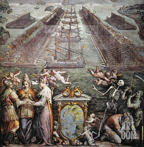 Battle Of Lepanto, 1571 Stretched Canvas Print
