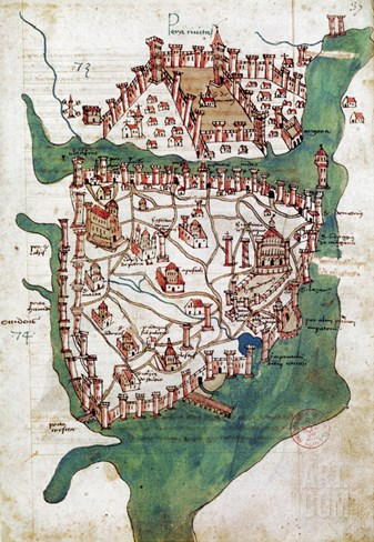 Constantinople, 1420 Stretched Canvas Print
