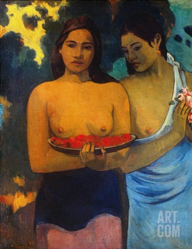 Gauguin: Two Women, 1899 Stretched Canvas Print