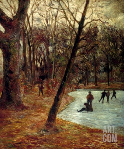 Gauguin: Skaters, 1884-85 Stretched Canvas Print