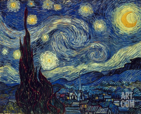 Van Gogh: Starry Night Stretched Canvas Print