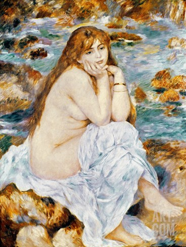 Renoir: Seated Bather, 1885 Stretched Canvas Print